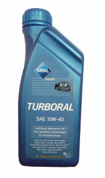 Моторное масло Aral Turboral 10W40 1L