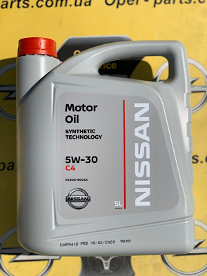 Моторное масло Nissan DPF C4 5w30 5L